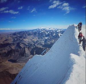 Charquini summit